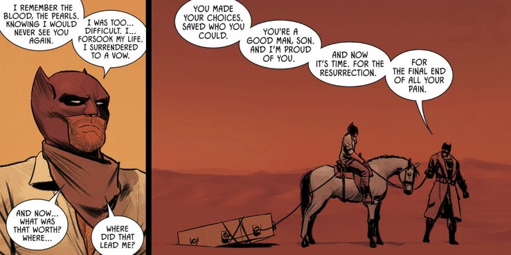 Batman Comics - Thomas Wayne no deserto.