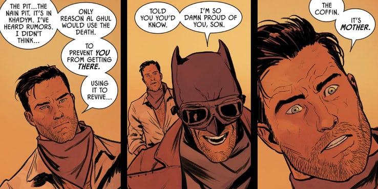 Batman Comic - Caixão de Martha Wayne