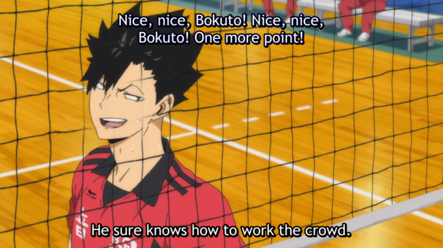 Comentários de Kuroo sobre Bokuto