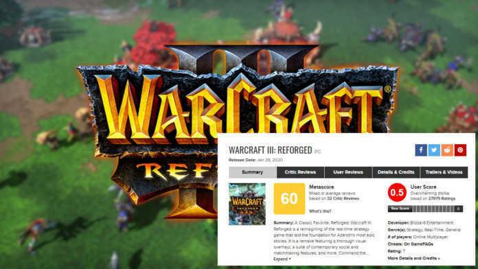 Lancamento do Warcraft 3: Reforged tem a pior avaliação do Metacritic