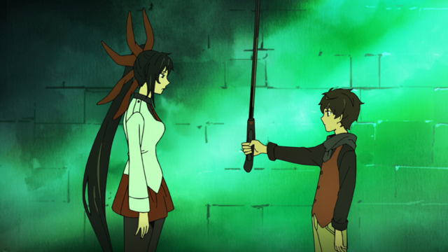 Príncipe Yuri dá a Bam a espada da Marcha Negra