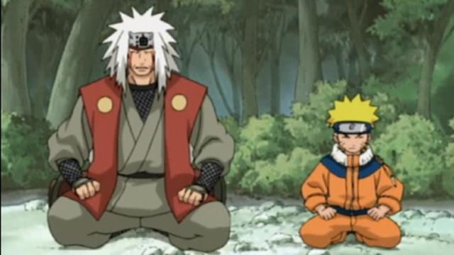 Jiraiya e Naruto
